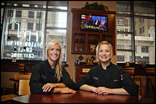 Licia Zampino and Shelly Harris [Boston Ave. Grill]