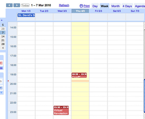 Updating Google Calendars from a Google Spreadsheet – OUseful Info