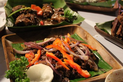 Beef Tapa at Obsidian Bar and Grill
