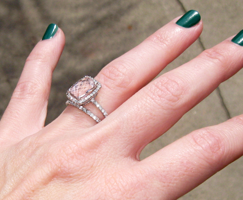 My Engagement Ring Amp Wedding Band Morganite Amp Pave