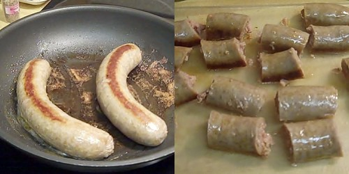 sausage collage