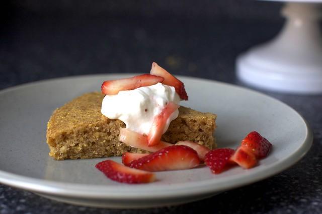pecan cornmeal butter cake