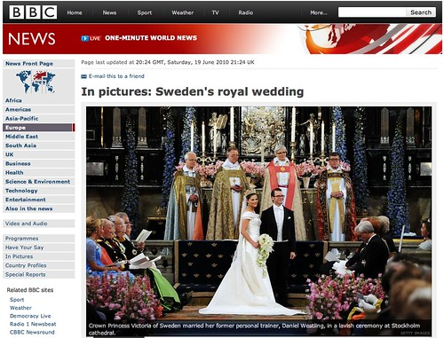 Swedish Crown Princess Victoria & Prince Daniel - Sweden's royal wedding by you.