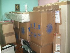 boxes in the middle