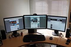 My Triple Monitor Display