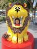 Lego lion eating Ava