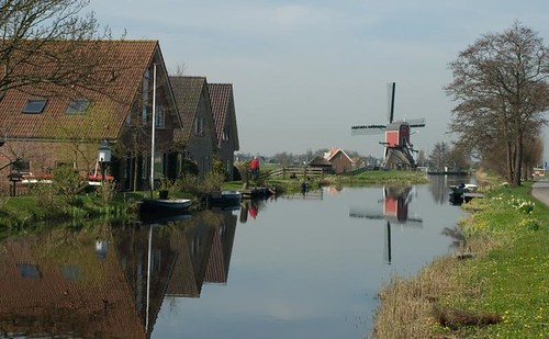 Windmill in a canal
