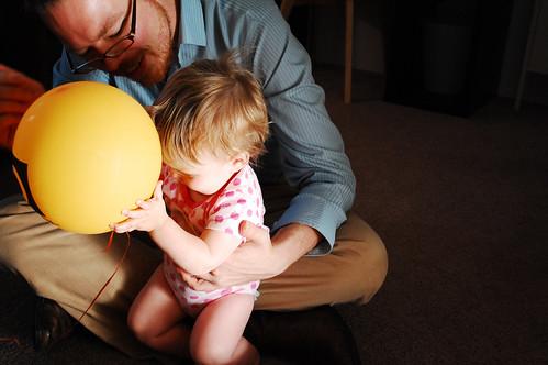 Camilla's first balloon.