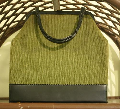 Vintage Handbag Olive Green