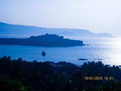 fort in the arabian sea