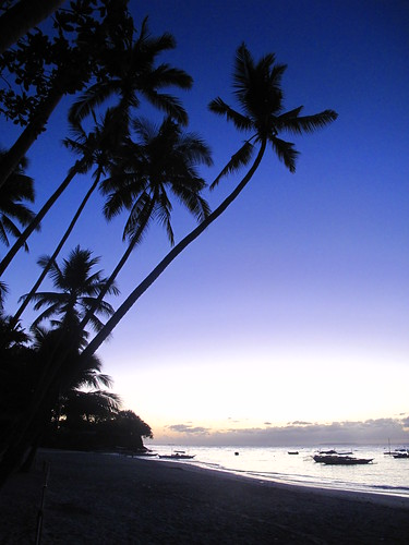 Just before sunrise, Alona Beach, Panglao Island, Bohol, Philippines