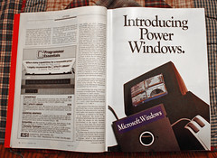 Microsoft Windows 1.0 Six-Page Advertising Ins...