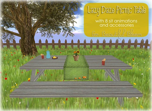 :: Awesome Blossom :: Lazy Daze Picnic Table
