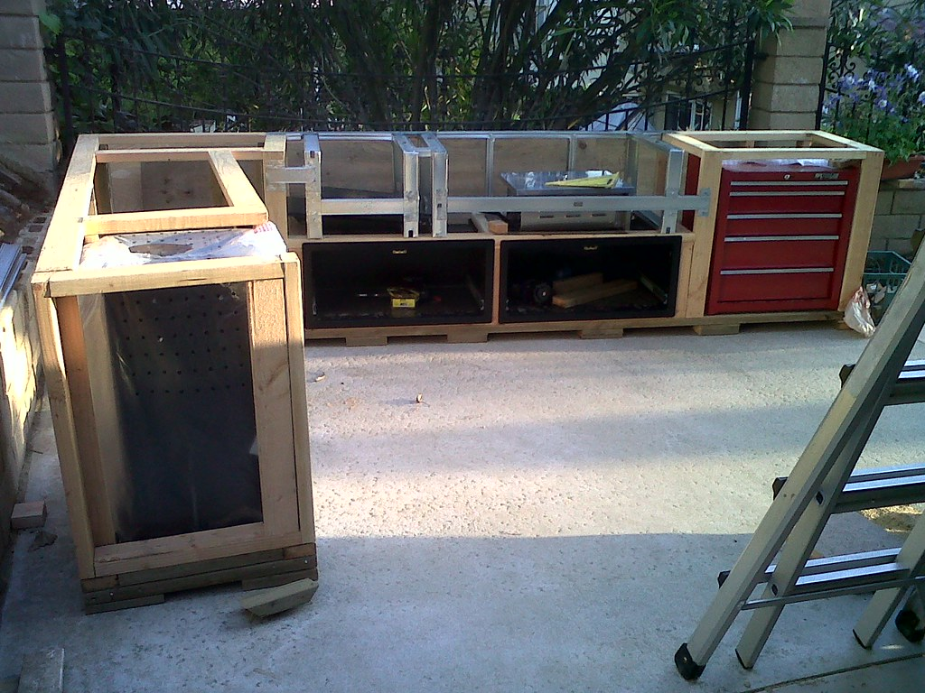 outdoor kitchen frame cost of new cabinets island build