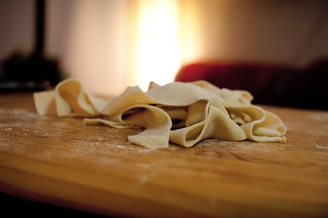 Home made Pappardelle