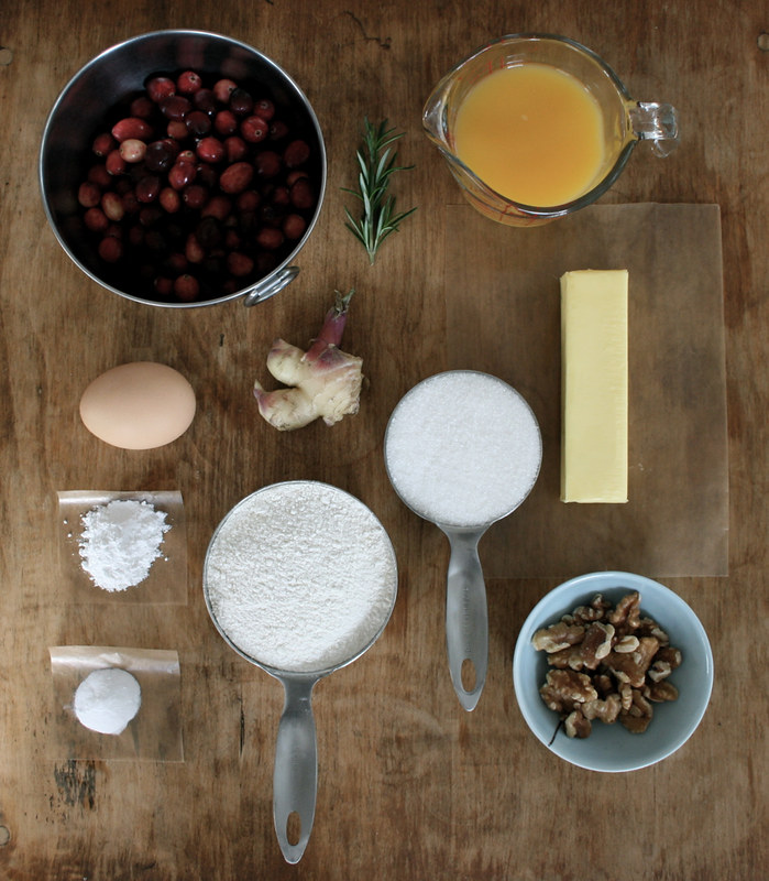 cranberry bread, ingredients