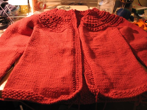 almost finished fresh picked cardi