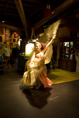 belly dancer at Cafe Tu Tu Tango