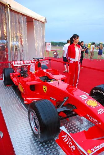 F1 car with Marlboro babe