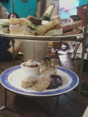Tea sandwiches and desserts