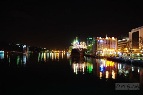 基隆港夜景。