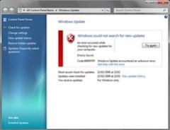 Windows Update error 8000FFFF