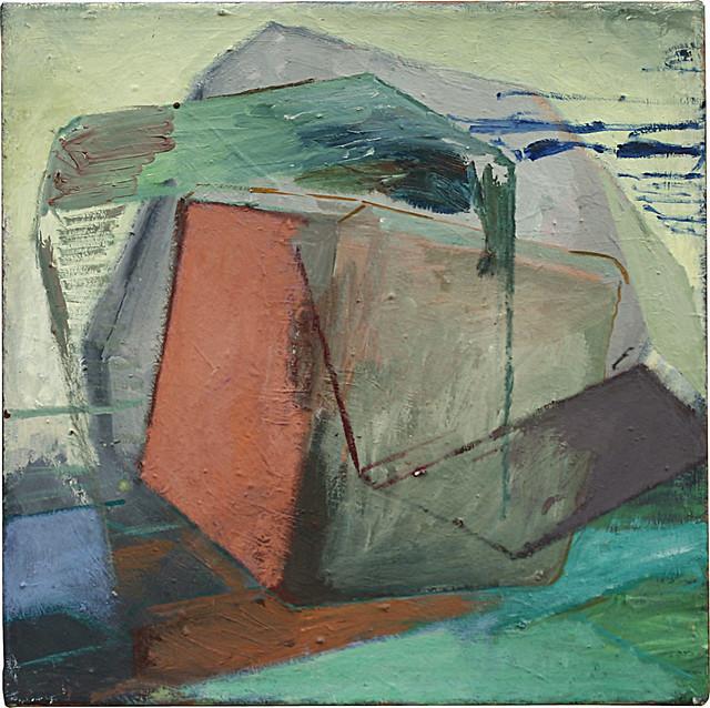 Steinbruch, 40 x 40 cm, Eitempera/Öl-Pigmente, 2010