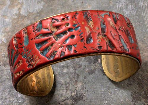 Anasazi cuff - polymer clay