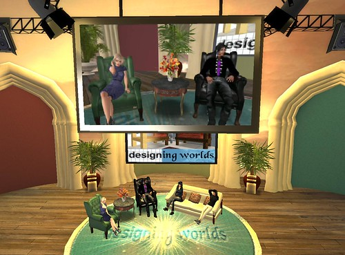 The Designing Worlds show being filmed: Photo by Wildstar Beaumont