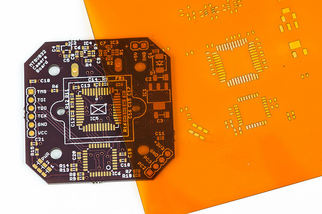 Camera board and Kapton stencil