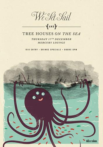 We Set Sail - Friendly Squid by Adam the Velcro Suit.