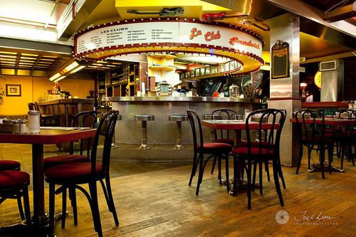 Old School Diner along Rue Ste-Catherine