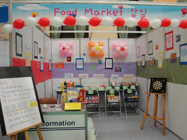 My School's Food Market booth