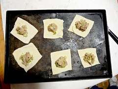 Kreplach Dumplings in process