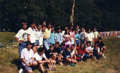 Àlbum Curs 1989-90, colònies a Cantonigrós'90 i campaments a Alòs d'Isil'90