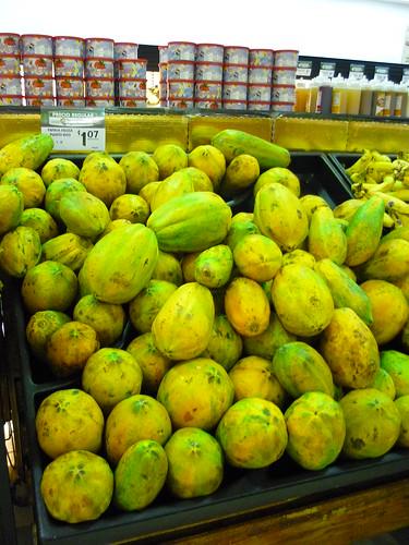 Huge papayas
