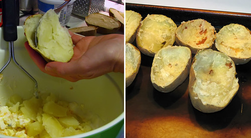 Scooping Out Potatoes