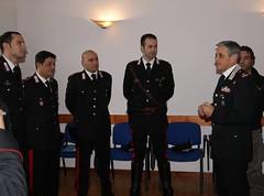 Il Gen. Tomasone incontra i militari che sabato sera hanno sventato la rapina al supermercato GS di Tivoli(3)
