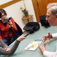 En tournage avec Pierre de Saintignon, pour les Régionales 2010