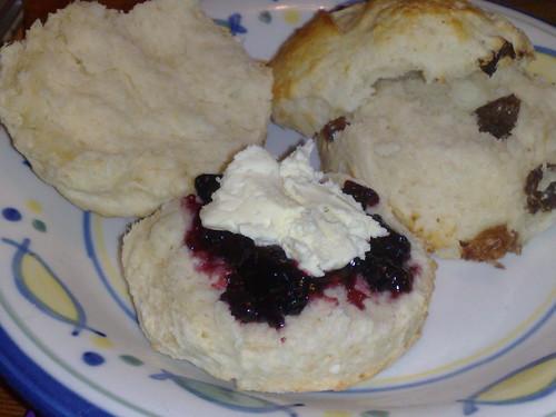 Jam and cream