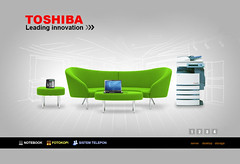 Website Design Toshiba Indonesia