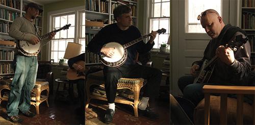 Three banjo players