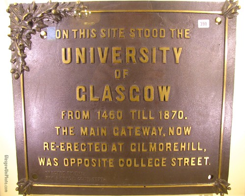 On This Site Stood The University of Glasgow