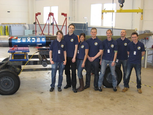LAPLander Team with assembled REXUS 8