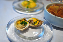 Oyster with Mango-Lime Oil