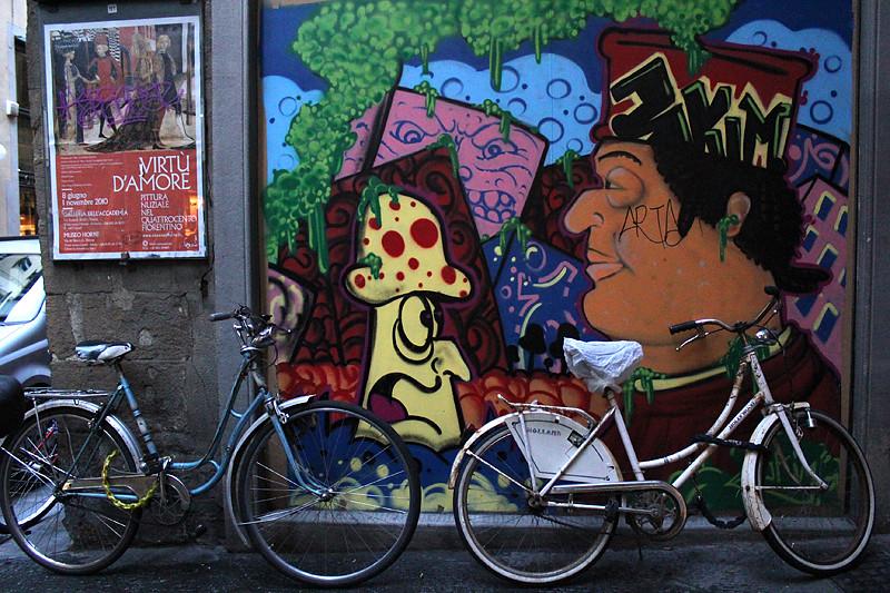Grafiti in the city centre