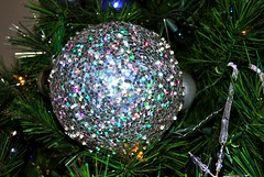 One of my favorite ornaments.  BIG sparkly ball!