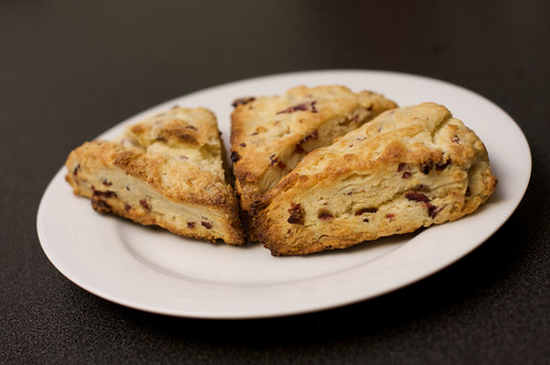 Creamy Dreamy Cranberry Scones