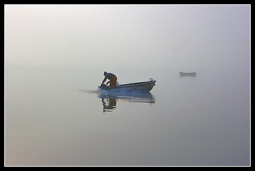 Fisherman in the fog