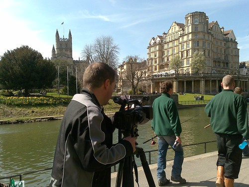 Filming 'Click' in Bath